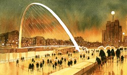 Millenium Promenade by Peter J Rodgers -  sized 14x8 inches. Available from Whitewall Galleries